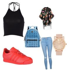 Poppin by lilcarmelmami on Polyvore featuring polyvore fashion style New Look adidas MCM clothing