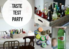 "Summer Drinks ""Taste Test Party'! Fun way to celebrate a hot summer day!"