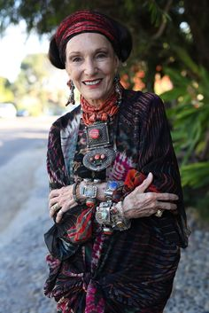 Artist Barbara Chapman~Image via Advanced Style, 2015.