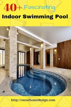 Indoor Swimming PooIndoor Swimming Pool Ideas. There are many design ideas that can be incorporated into an indoor swimming pool that not only add beauty but safety and function as well. There are plenty of options to choose from when you begin the design process. #swimmingpoolideas #indoorswimmingpoolideas #indoorswimmingpooldesigns #indoorswimmingpoolshome #indoorswimmingpoolsmodernl Ideas 6 Swimming Pool Tiles, Luxury Swimming Pools, Luxury Pools, Indoor Swimming Pools, Swimming Pool Designs, Simple Ranch House Plans, French House Plans, House Plans And More, Modern Architecture Design
