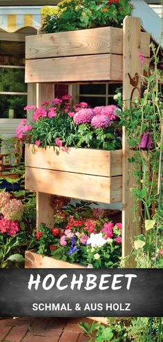 Hochbeet Merle The perfect raised bed for little space. Narrow and space-saving, made of wood. Perfect for your plants. Diy Water Fountain, Indoor Water Fountains, Water Garden, Raised Flower Beds, Raised Garden Beds, Raised Beds, Ficus, Back Gardens, Small Gardens