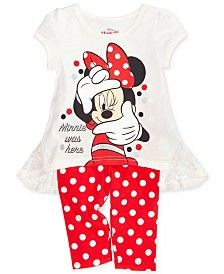 Disney's® Minnie Mouse 2-Pc. Tunic & Leggings Set, Toddler & Little Girls (2T-6X)
