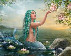 I sat upon a promontory, And heard a mermaid, on a dolphin's back, Uttering such dulcet and harmonious breath, That the rude sea grew civil at her song; And certain stars shot madly from their spheres, To hear the sea-maid's music. - William Shakespeare