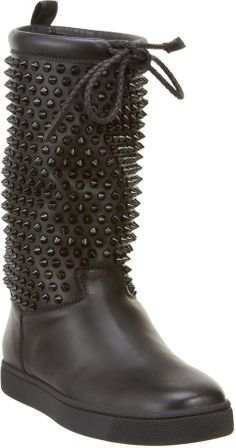 Christian Louboutin Surlapony Spiked Boots on shopstyle.com