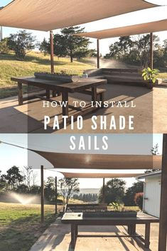 Our Patio Makeover 2019 Shade sails are an inexpensive way to bring some shade to your outdoor living area. Shade sales are easy to install over your patio or deck and are a quick and easy diy. The post Our Patio Makeover 2019 appeared first on Patio Diy. Diy Pergola, Pergola Design, Diy Patio, Patio Design, Budget Patio, Pergola Ideas, Patio Ideas, Pergola Roof, Cheap Pergola