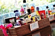 bathroom wedding basket (via it weddings florida) #handmade #wedding #bathroom