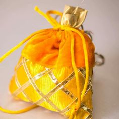 Small yellow favor bags by sawc planners Ethnic Home Decor, Favor Bags, Planners, Favors, Bling, Yellow, Gifts, Goodie Bags, Presents
