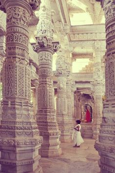Jain Temple in Ranakpur, India... the Jains have the most beautiful places of worship