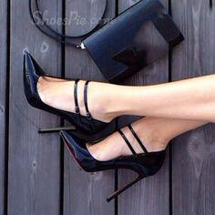 Shoespie Ankle Wrap Plus Size Stiletto Heels From The Plus Size Fashion Community At www.VintageAndCurvy.com