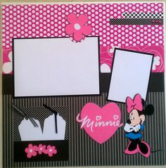 Minnie Mouse 12x12 premade scrapbook layout page Ohioscrapper