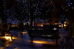Christmas Lights on the Southbank, London (before they take them down).