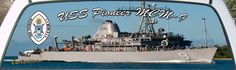 USS Pioneer MCM-9 Mine Countermeasures Ship Truck Window Mural.