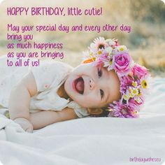 Birthday Card For Baby Girl Quotes Verses Wishes Kids