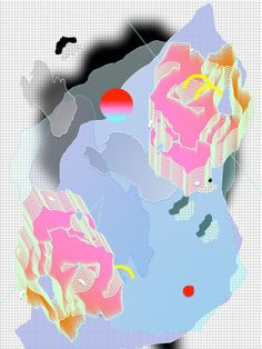 Falling Forms is an experimental graphic arts project designed by Louise Zhang.