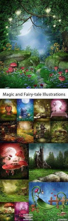 Сказочная природа - фоны для Фотошоп | Fairy tale nature backgrounds