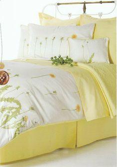 Bed Sets For Sale, Toddler Girl Bedding Sets, Yellow Bedding, Yellow Bedrooms, Colorful Bedding, Yellow Cottage, Rose Cottage, Bed Linen Design, Yellow Houses