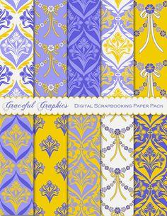 Scrapbook Paper Pack Digital Scrapbooking by GracefulGraphics, $3.00