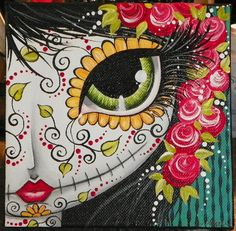 day of the dead ORIGINAL painting CANVAS art by Megan Suarez