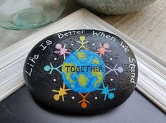 Hand Painted Stone Painted Stone Inspirational Painted