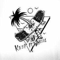 Jamie Browne Art @Jamie Browne ~ jamiebrowneart.com ~ Keep it Wheel graphic for Volcom