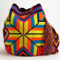 WAYUU TRIBE | #Handmade Boho Bags  Crochet Patterns made by the indigenous Wayuu… Tapestry Bag, Tapestry Crochet, Knit Crochet, Crochet Clutch Pattern, Crochet Patterns, Mochila Crochet, Go Bags, Crochet Purses, Knitting Accessories
