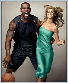 Vogue Feature, Gisele Bundchen & LeBron James by Annie Leibovitz
