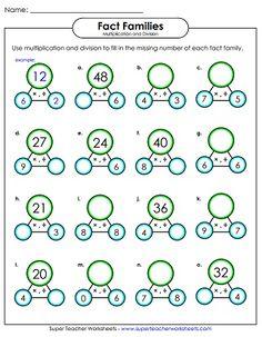 Multiplication And Division Worksheets Printable Multiplication And Division Worksheets, Math Practice Worksheets, Learning Multiplication, Science Worksheets, Maths Puzzles, Teaching Math, Math Fractions, Kindergarten Math, Mental Math Tricks