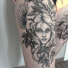 "809 Likes, 4 Comments - Olga Koroleva (@olshery) on Instagram: ""зажившая/ healed work #тату #татуцветы #татуировка #tattoo #tatrussia #tattoo2me #tattooart…"""