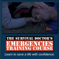 Do you feel confident enough to walk up to a medical emergency and assess the situation well enough that you can apply a tourniquet, perform CPR correctly or even help with a chest wound? The Survival Doctor's Emergencies Training Course will give you the Disaster Preparedness, Survival Prepping, Survival Skills, Doomsday Prepping, Homestead Survival, Rashes In Children, Emergency Medicine, Emergency Doctor, First Aid Kit