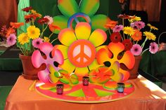 60's Hippie Theme Bar Mitzvah Party Ideas | Photo 1 of 21 | Catch My Party