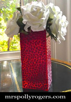 DIY Tutorial - Eggshell Mosaic Vase  #recycle