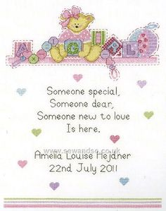 Shop online for Baby Girl Sampler Cross Stitch Kit at sewandso.co.uk. Browse our great range of cross stitch and needlecraft products, in stock, with great prices and fast delivery.