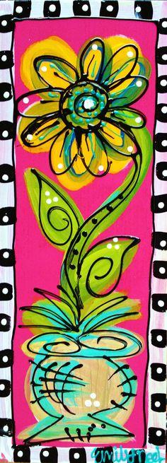 Happy Plants by emilysoriginalart on Etsy, $75.00
