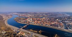 Kaunas, Lithuania. Where the two rivers meet. Nemunas and Neris