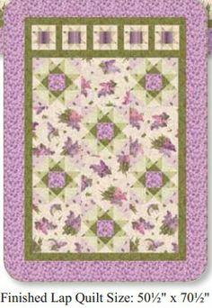 Chateau Lap Quilt Free Pattern -- Lilacs