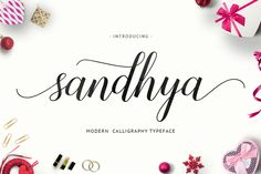 Sandhya Script is a new fresh & modern script with a modern calligraphy-style, decorative characters and a dancing baseline