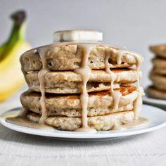 Healthy pancakes that taste like banana bread.
