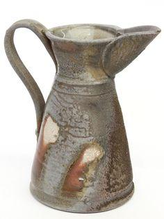 Studio art pottery, Kathy Kearns, Morandi Pitcher, 11''h.