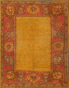 "Antique Oushak Rug - 13-1002   Oushak - 9'6"" x 11'0""   Wool  - All Over - Pile, Origin Turkey, Circa: 1900"