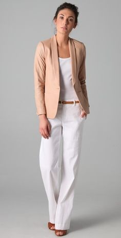 the perfect nude color leather jacket