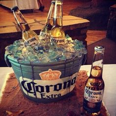 GROOM'S CAKE! Some people thought it was a real bucket o Coronas! He loved it!