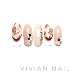 Flower Nail Designs, Classic Nails, Asian Style, Claws, Manicure, Nail Art, Makeup, Fingernail Designs, Watercolor Painting