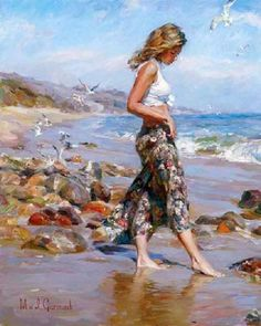 Michael & Inessa Garmash -toes in the sand
