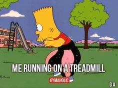 Me Running On A Treadmill
