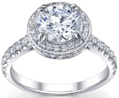 SI1/G 1.40 Ctw Halo Natural Diamond Jewelry Gold Solitaire Anniversary Ring Band #Solitaire
