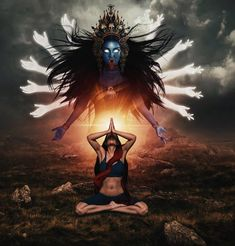 Daily dose of Hinduism. Goddess Kali, warrior goddess form removes all the illusions of the mind and… – unfashionable-cheek Kali Shiva, Shiva Hindu, Shiva Art, Shiva Shakti, Hindu Deities, Hindu Art, Indian Goddess Kali, Goddess Art, Goddess Lakshmi