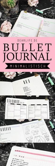 Ich zeige dir in diesem Blogpost, wie ich mein minimalistisches Bullet Journal gestalte und damit organisierter bin, als je zuvor! Filofax, Bujo, Cards Against Humanity, Journaling, Diy, Bullet Journal Ideas, Minimalist, Diary Book, Calendar