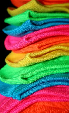 Remember flouresent socks!! We folded them down at the ankle!! So funny!!  I couldn't find a pic of the exact ones so these will do).