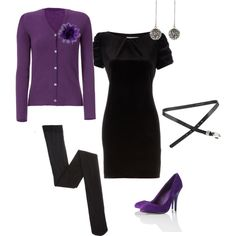 My first polyvore set! Approximating my attire at tomorrow's office holiday party...