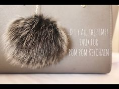 (1) D.I.Y All the Time! Faux Fur Pom Pom Keychain - YouTube | HOW TO | Pinterest